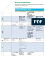 april class connect schedule