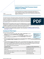 TU0118 Implementing an 8-Bit Processor-Based Design in an FPGA