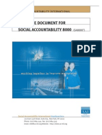 Guidance document for SA8000