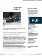 GM Stock Hits New Lows, Company in Turmoil