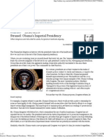 Obama's Imperial Presidency - WSJ