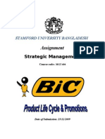 Product Life Cycle and Promotions of BIC