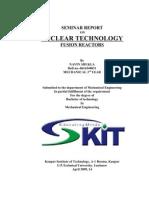 Seminar Report on Fusion Power Plant
