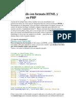 Enviar Correo Formato HTML Plano