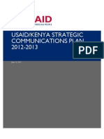 USAID Kenya Strategic Communications Plan 2012-2013 June 16 2012-1