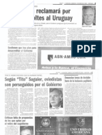 La incoherencia de Tito Saguier.