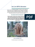 Wooden Low-RPM Alternator
