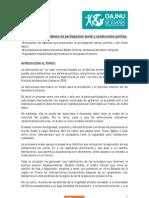 CONF. ESPECIAL - Democracia como sistema de participación social y construcción política.