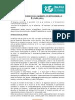 CONF. ESPECIAL - Desarrollo económico y humano, su relación con la Democracia y el Medio Ambiente.