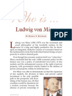 Who is Ludwig Von Mises - Murray Rothbard