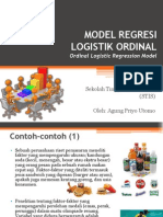 Model Regresi Logistik Ordinal