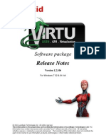Virtu Release Notes 1-2-106 Aug 9 2011