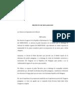 Proyecto de Declaración - Ingreso de Venezuela al MERCOSUR