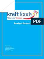 Kraft Food's Analyst Report