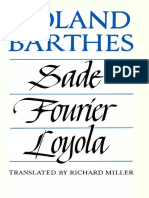 Sade, Fourier, Loyola - Roland Barthes