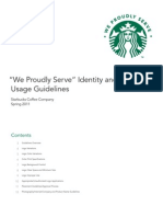 QSR Starbucks 'We Proudly Serve' Logo Usage Guideline
