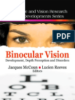 Binocular Vision Development, Depth Perception and Disorders