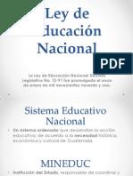 Análisis, Ley de Educación Nacional (Guatemala)
