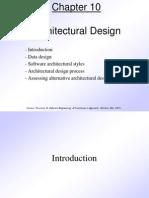 Pressman Ch 10 Architectural Design