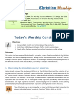 Today's Worship Constructs