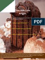 Chocolate Cake Activities