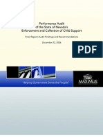 MAXIMUS Child Support Performance Audit, NV, 2006