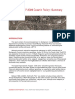 Final Draft 2007-2009 Growth Policy