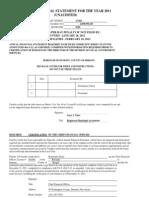 Dumont 2011 Financial Statement (unaudited)