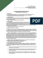 StPAULMNRules Governing Public Rallies Statutory