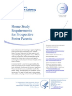 Home Study Requirements for Prospective Foster Parents - 2011