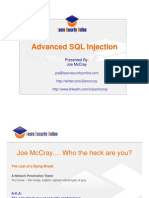 Advanced SQL Injection Joe-McCray Www.vnitblog.com