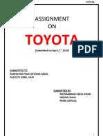 Consumer Buying Motives of Toyota