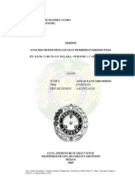 ANALISIS SISTEM PENGAWASAN PEMBERIAN KREDIT PADA PT. BANK TABUNGAN NEGARA ( PERSERO ) CABANG MEDAN