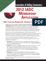 2012 Membership Application English Form