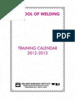 Training Calander 12 13