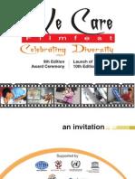 We Care Invitation Card