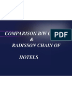 Comparison of Oberoi & Radisson Hotels in India Hotel Industry