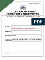 Principle & Practice of Management