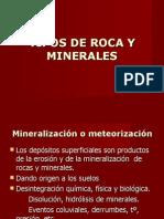Tipos de Rocas y Minerals