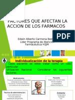 Factores Que Afectan La Axn Farmacos Version 2