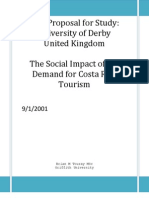 Phd Research Proposal - Social Impacts of Tourism in Costa Rica - Brian m Touray