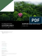 Rapport d'activité 2011 Fondation GoodPlanet