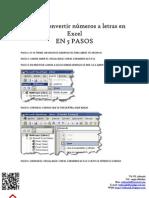 Cómo convertir números a letras en Excel