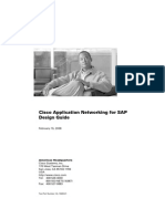 Cisco Application Networking for SAP Design Guide