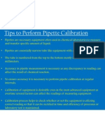 Tips to Perform Pipette Calibration