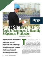 SolarPro Solar Site Evaluation
