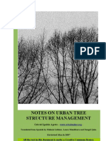 Notes on urban tree structure management