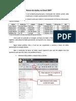 Banco de Dados No Excel 2007
