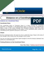 Distance on a Coordinate Plane