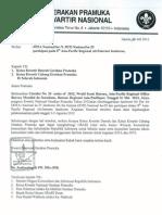 Surat Edaran Jota-Joti 2012 dari Kwartir Nasional Gerakan Pramuka